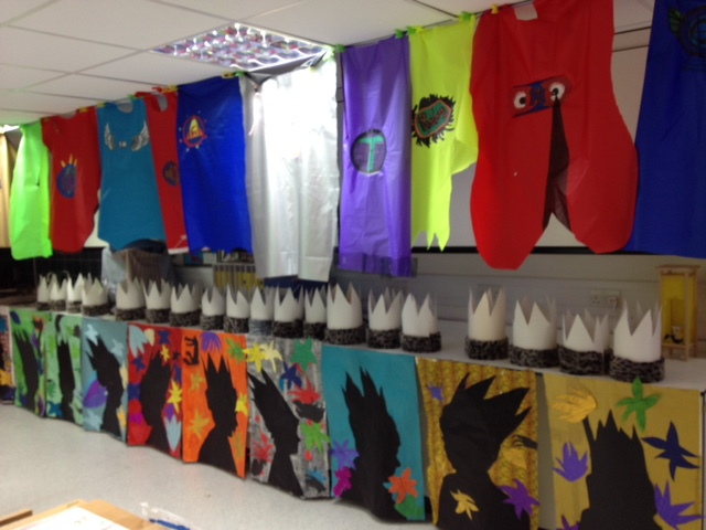 Superheroes project with Fairley House students by Cara George